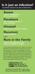 IDF Info Card - Immune Deficiency Foundation