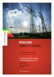 ENERGIE-INFO-TAG Programm - Textilverband Schweiz