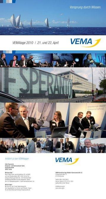 VEMAtage 2010 | 21. und 22. April Vorsprung durch ... - V-Aktuell