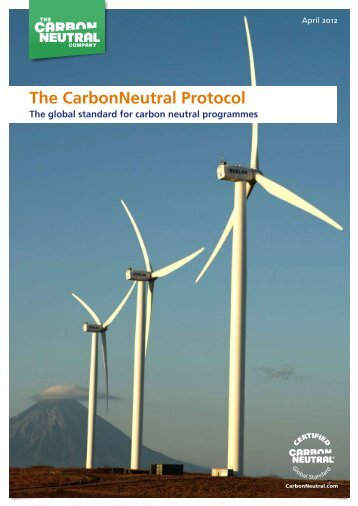 The CarbonNeutral Protocol - The Carbon Neutral Company