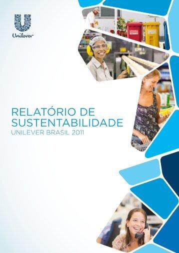 Relatório de Sustentabilidade 2011 (PDF para download) - Unilever
