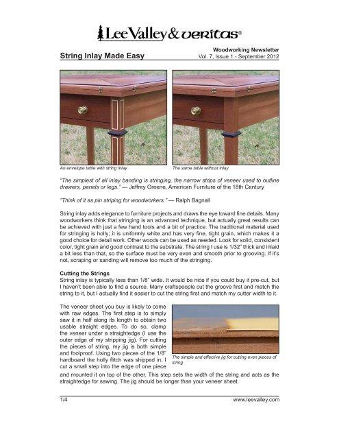 Print Article Lee Valley Tools