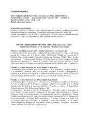 Studijní podpora - SVĚTOVÁ LITERATURA - eAMOS