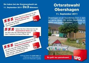 Ortsratswahl Obershagen - SPD-Ortsverein Uetze