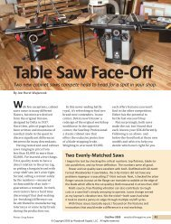 Table Saw Face-Off - Woodcraft Magazine