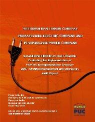 METROPOLITAN EDISON COMPANY - Pennsylvania Public Utility ...