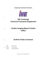 IHE Cardiology Technical Framework Supplement Cardiac Imaging ...