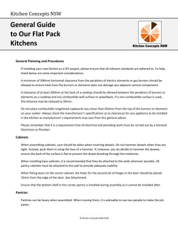 General Guide to Our Flat Pack Kitchens - Kitchen and Renovation ...
