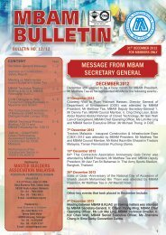 Dec 2012 Bulletin - Master Builders Association Malaysia