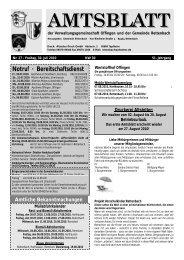 Rettenbach KW 30 aktuell