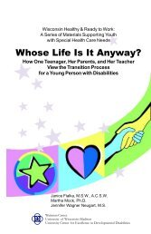 Whose Life Is It Anyway? - Waisman Center - University of ...