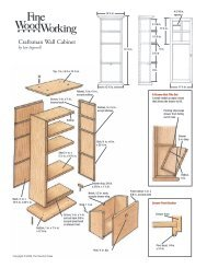 Craftsman Wall Cabinet - WoodLinks USA