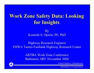 Work Zone Safety Data: Looking for Insights - National Work Zone ...