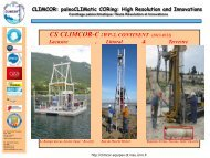 CLIMCOR: paleoCLIMatic CORing: High Resolution and ... - CNRS