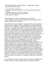 SAT EDUCAZIONE e scuola primaria - Antonietta ... - Claudio Naranjo