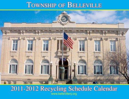2011-2012 Recycling Schedule Calendar - Belleville, NJ