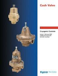 Cryogenic Controls PDF (CAVMC-0514 - Cash Valve