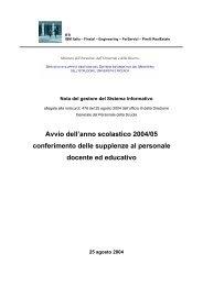 Avvio dell'anno scolastico 2004/05 conferimento delle ... - DIDAweb