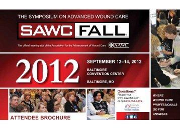 attendee broChure - SAWC Fall