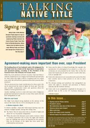 Issue 4 - National Native Title Tribunal