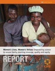 Women's Lives, Women's Voices - CARE International