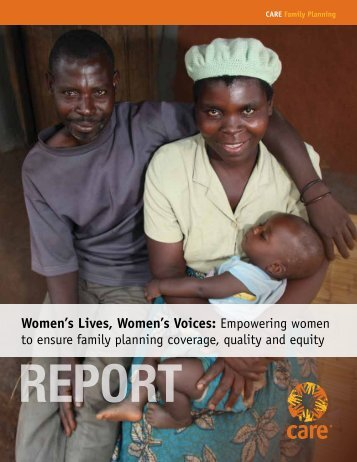 Women's Lives, Women's Voices - CARE International