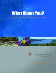 What About You? - National Center on Family Homelessness