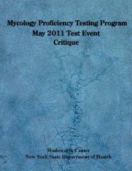 Mycology Proficiency Testing Program - Wadsworth Center