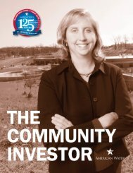 Community Investor - American Water