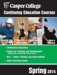 Continuing Education Courses - Casper College