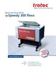 Die Technik des Speedy 300 flexx - Trotec Laser Inc