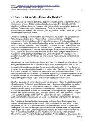 Arne Schulenberg - Kommunikation per Wort, Bild ... - FH Durchstarter