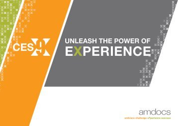 amdocs ces 9 – unleash the power of experience - MultiVu