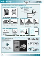 Cabinet Hinges Steps to Selecting Concealed Cabinet Hinges ...