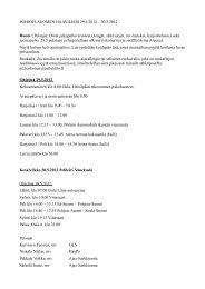 Lisätietoja - Suomen Palloliitto