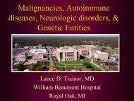 Neurological Disorders, Malignancies, Autoimmune Diseases ...