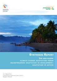SYNTHESIS REPORT - Asia Pacific Adaptation Network