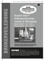 Krystal ClearTM Saltvanns basseng- system ... - Intex Nordic