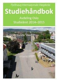 Studiehåndbok for avdeling Oslo - Fjellhaug Internasjonale Høgskole