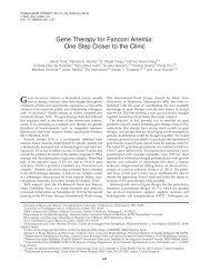 Gene Therapy for Fanconi Anemia: One Step Closer to the Clinic