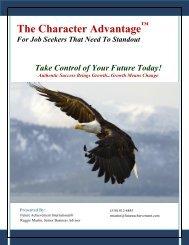 The Character Advantage Job Seekers Report - Future Achievement ...