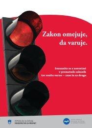 Zakon omejuje, da varuje. - Javna agencija RS za varnost prometa