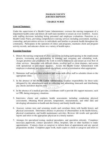 Nurse Job Description | Operating Room Charge Nurse Job Description