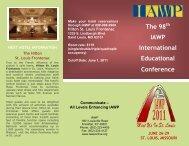 conference brochure - International Association of Workforce ...