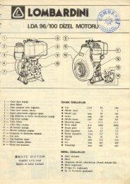 LOMBARDINI LDA 96/100 DIZEL MOTORU