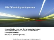 NACCE and Augusoft present: