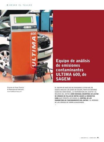 Equipo de análisis de emisiones contaminantes ULTIMA 600, de ...