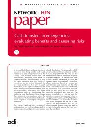 Cash transfers in emergencies: evaluating benefits and assessing ...