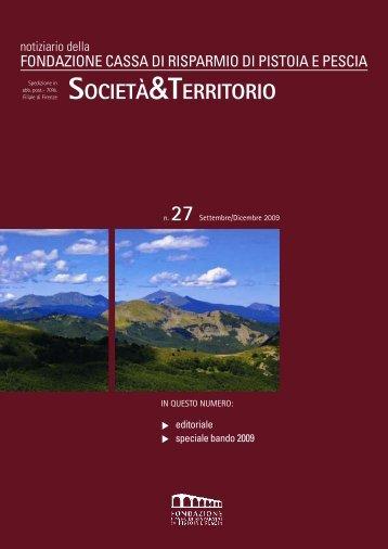 n.27 - Settembre/Dicembre 2009 - Fondazione Cassa di Risparmio ...