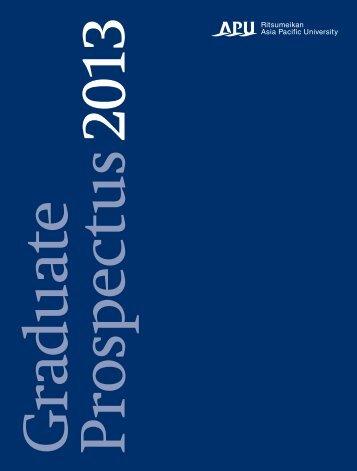 APU Graduate Prospectus 2013 17